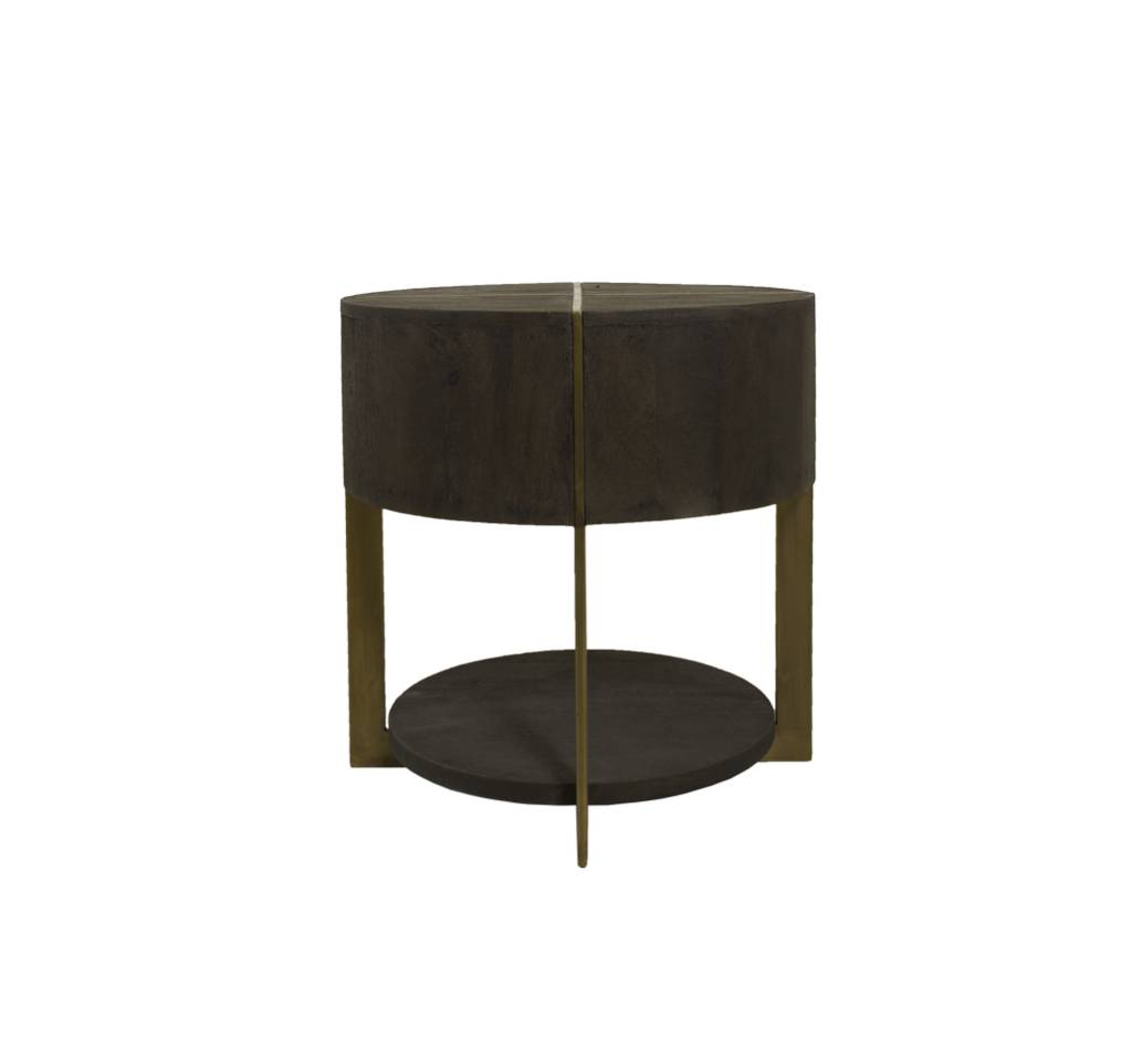 DRAY ROUND END TABLE - ESPRESSO