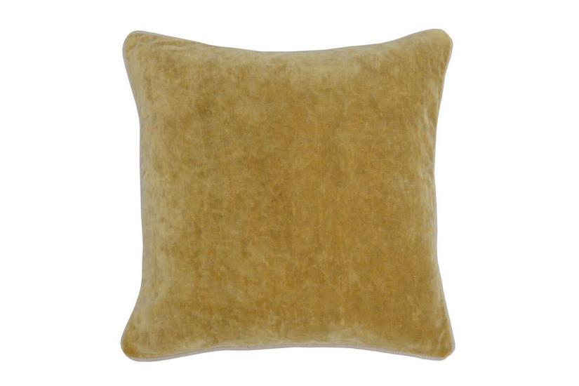 HEIRLOOM VELVET SQUARE PILLOW - GOLD