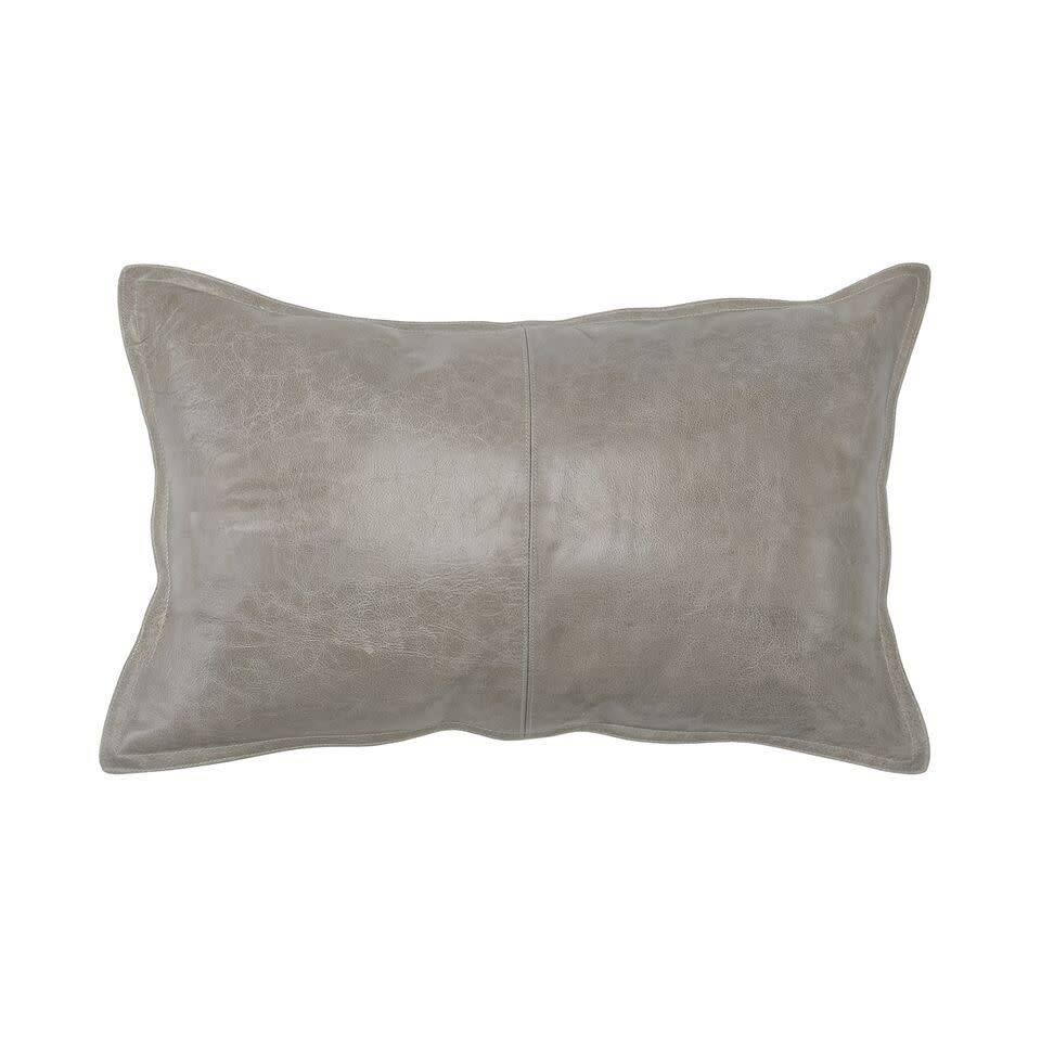 PIKE LEATHER BOLSTER PILLOW