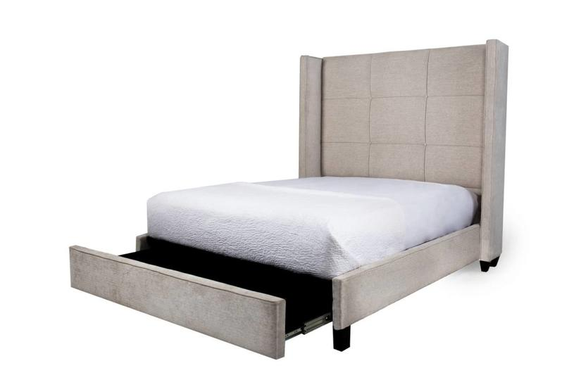 COLT QUEEN STORAGE BED - WHITESAND