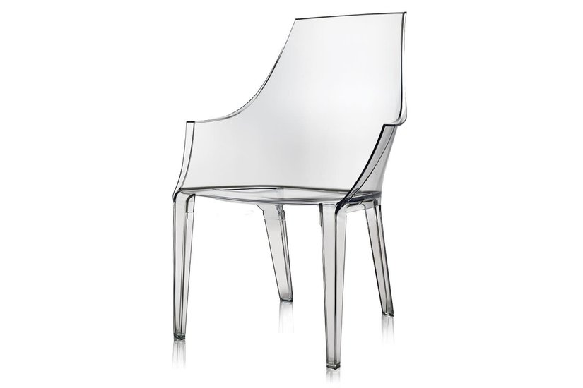 LOGAN ACRYLIC ARM CHAIR - disc