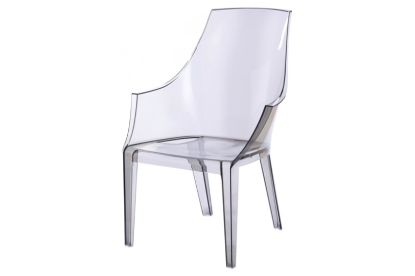 LOGAN ACRYLIC ARM CHAIR GRAY