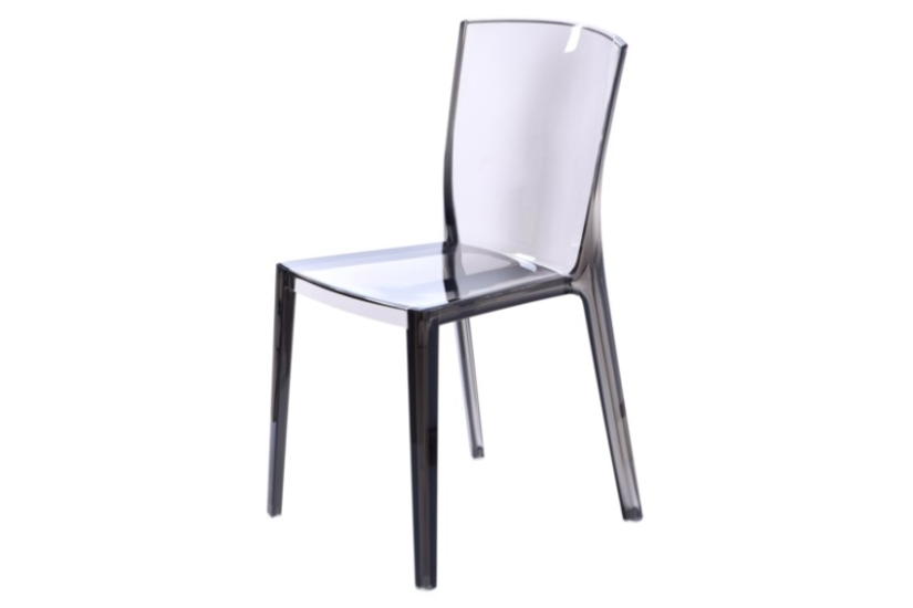 LOGAN ACRYLIC SIDE CHAIR GRAY