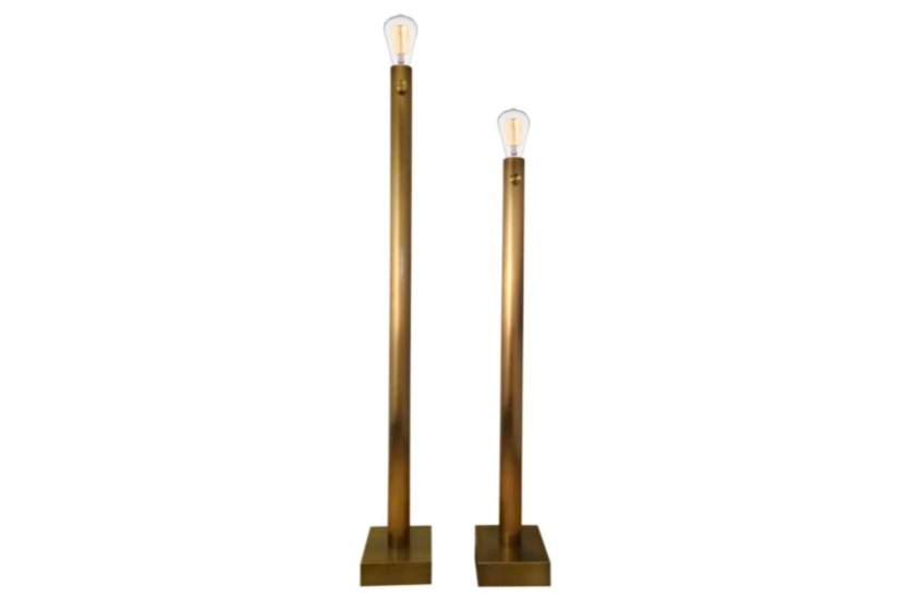 BARCLAY BRASS FLOOR LAMP S/2