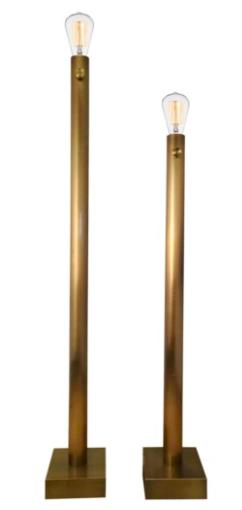 BARCLAY BRASS FLOOR LAMP S/2
