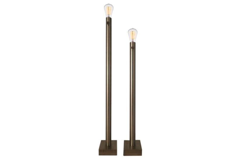 BARCLAY NICKEL FLOOR LAMP S/2