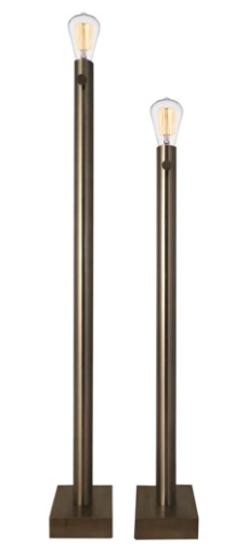 BARCLAY NICKEL FLOOR LAMP S/2