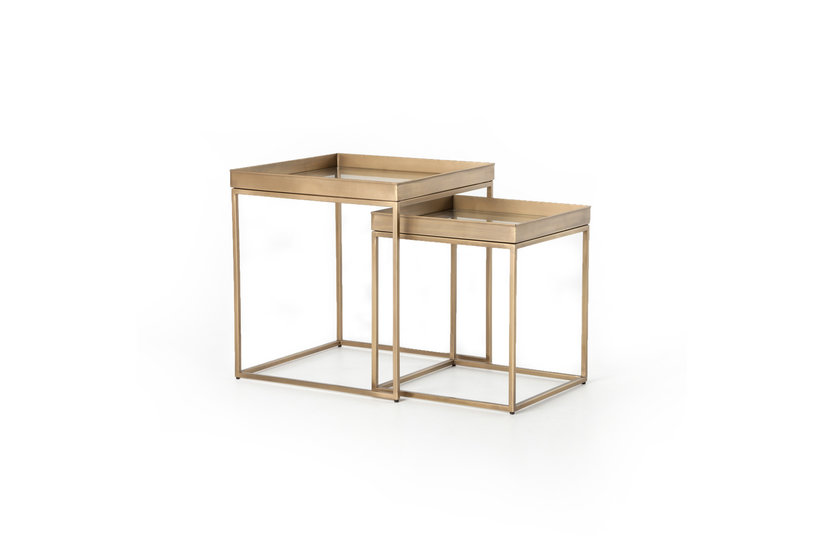 BRONZE NESTING END TABLE