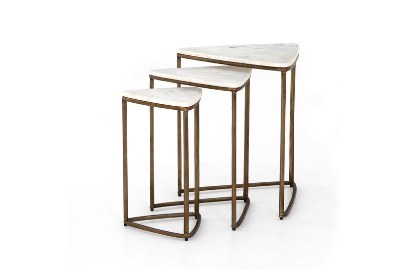 RAYNE NESTING END TABLE - BRASS