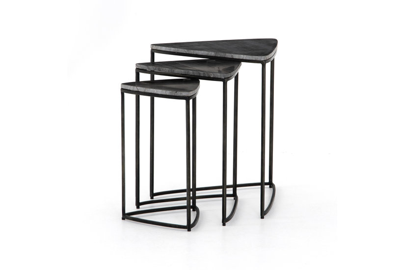 RAYNE NESTING END TABLE - EBONY