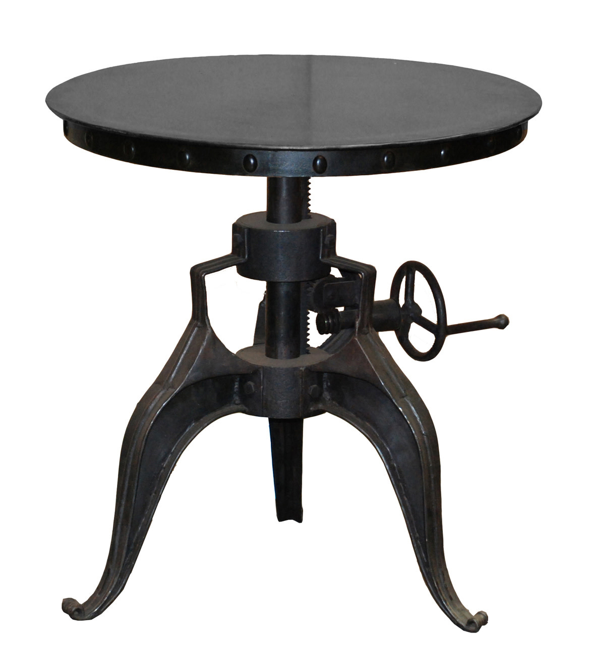 "EISEN CRANK TABLE 22"" BLACK"