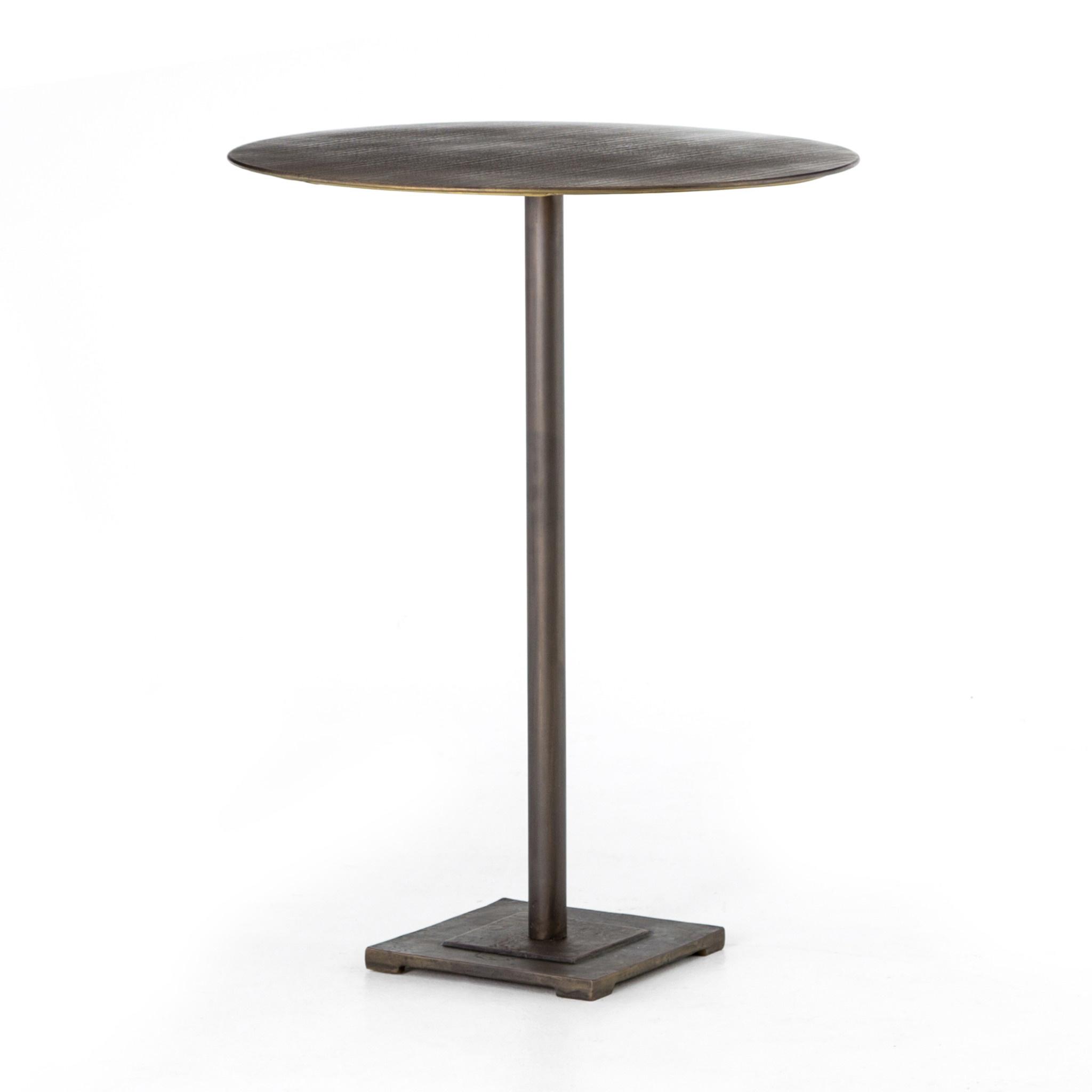 FANNIN BAR TABLE - BRASS
