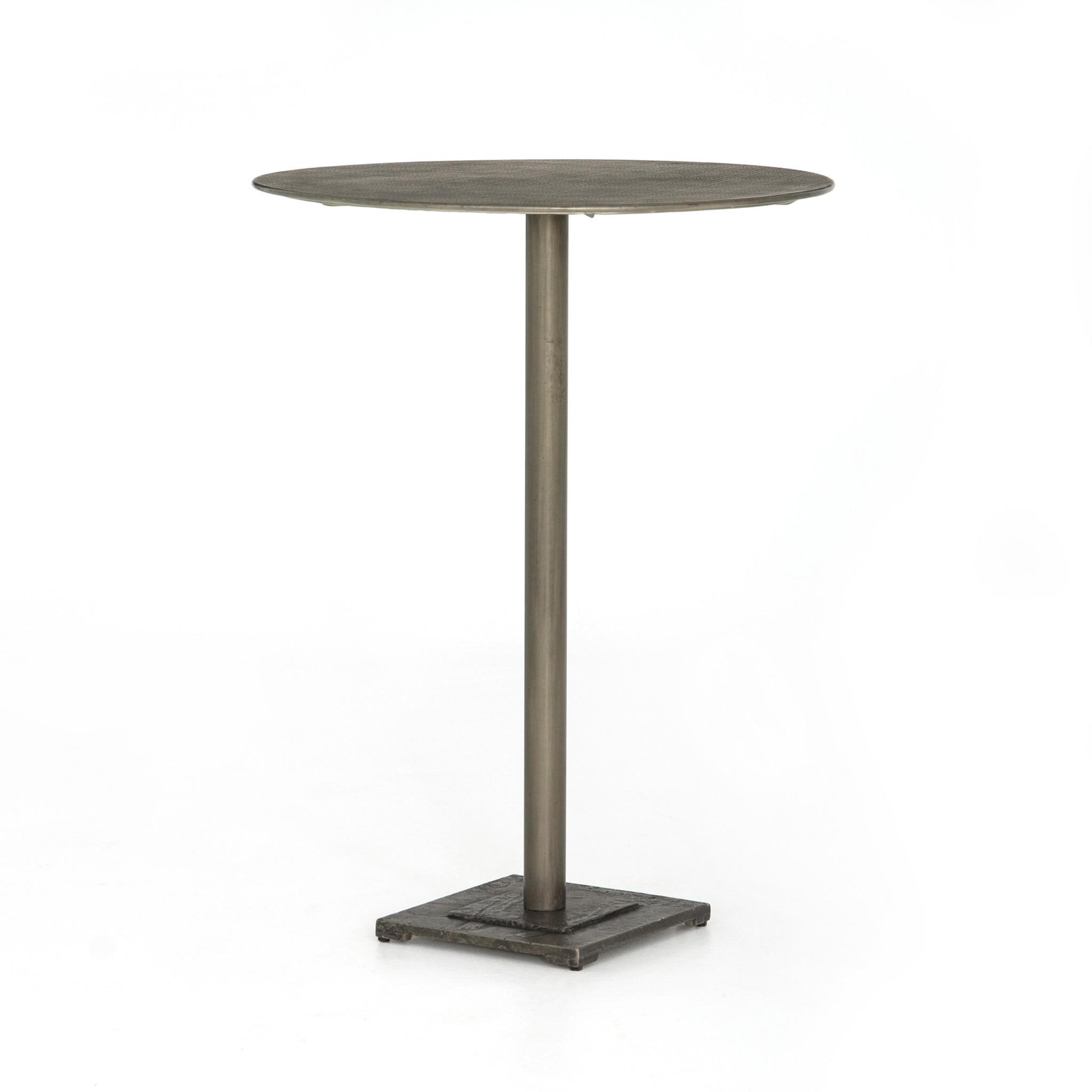 FANNIN BAR TABLE - NICKEL