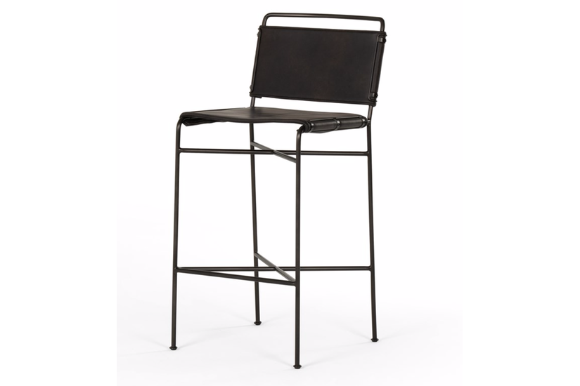 WHALEN BAR STOOL - BLACK