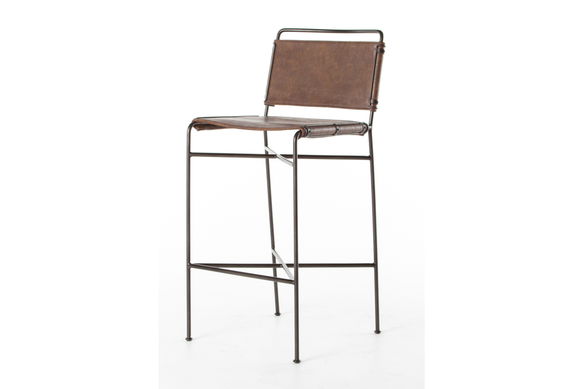 WHALEN BAR STOOL - BROWN
