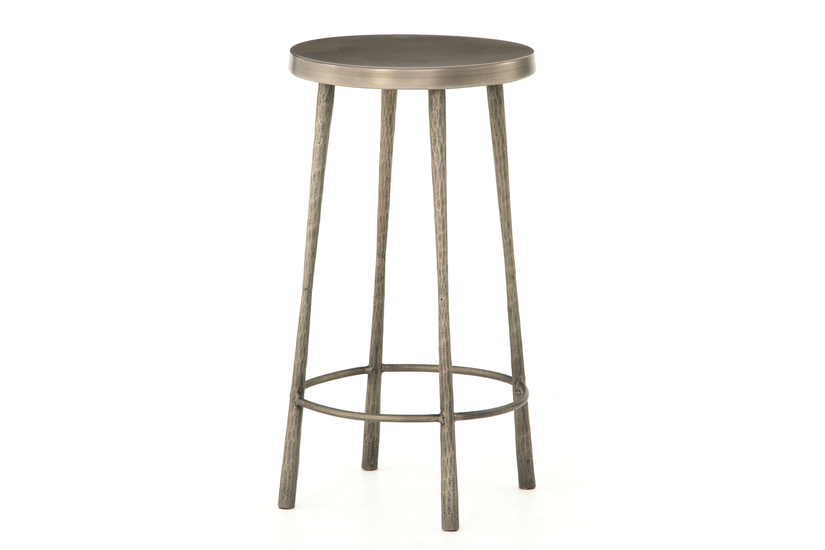 WESTON COUNTER STOOL - NICKEL