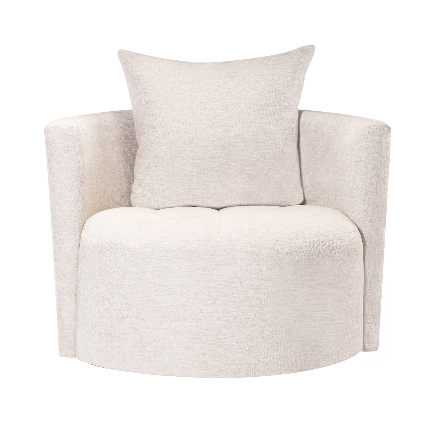 ROXIE SWIVEL CHAIR WHITESAND
