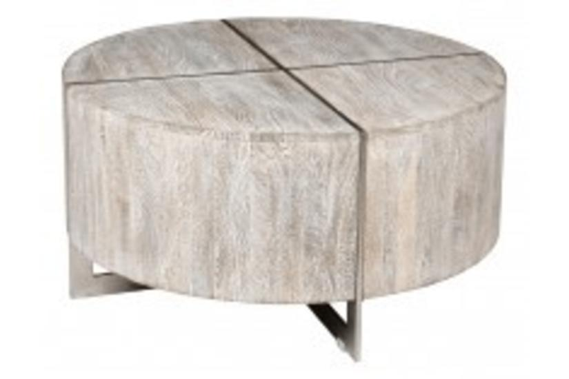 Desmond Round Coffee Table - Grey