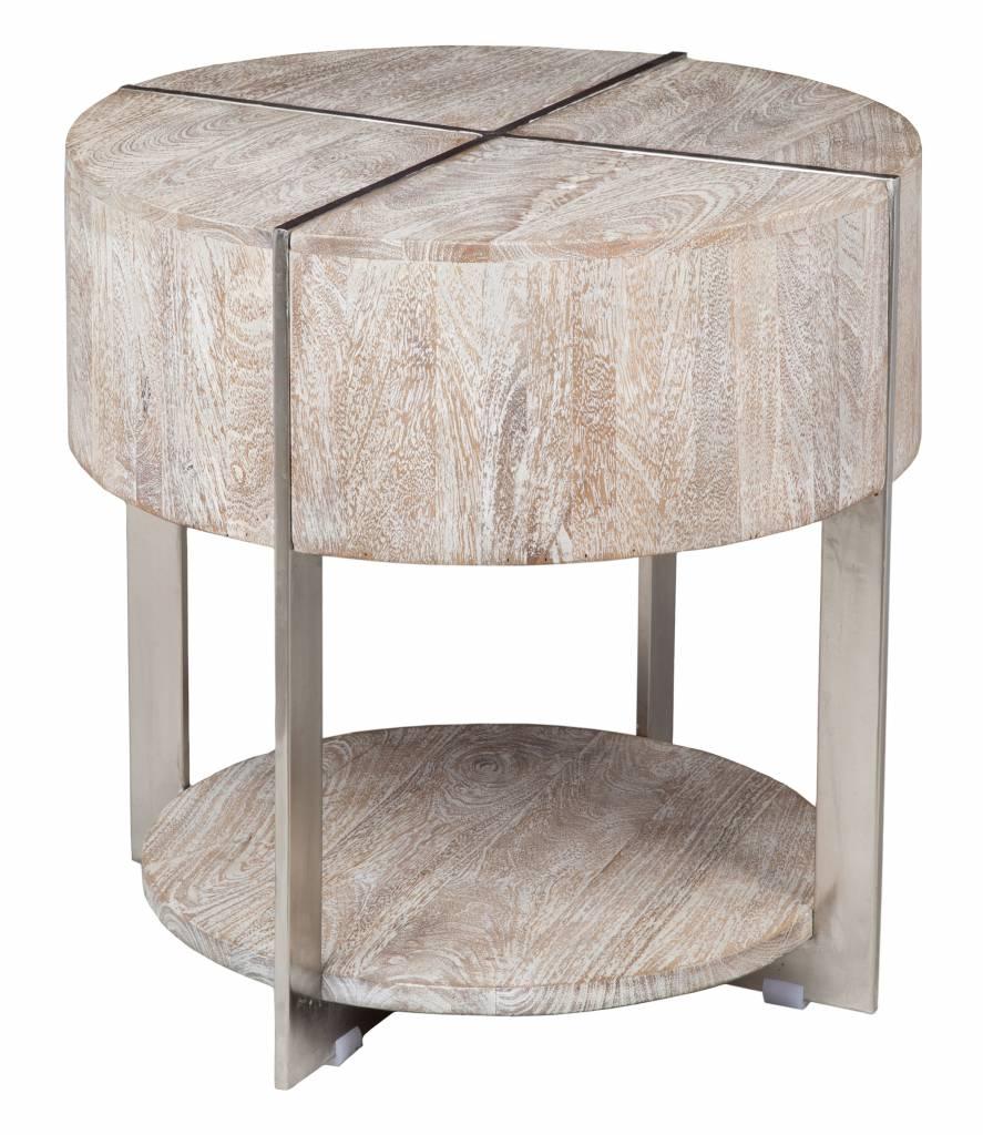 Desmond Round End Table - Grey