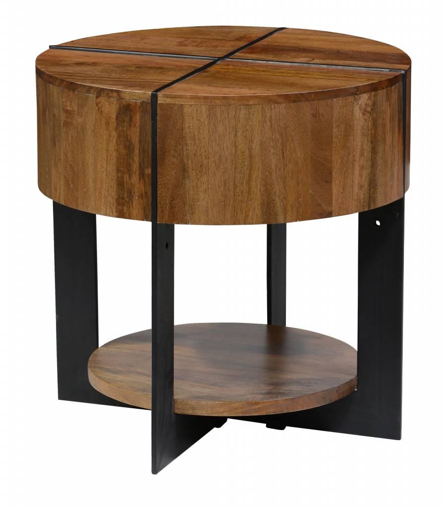 Desmond Round End Table - Brown