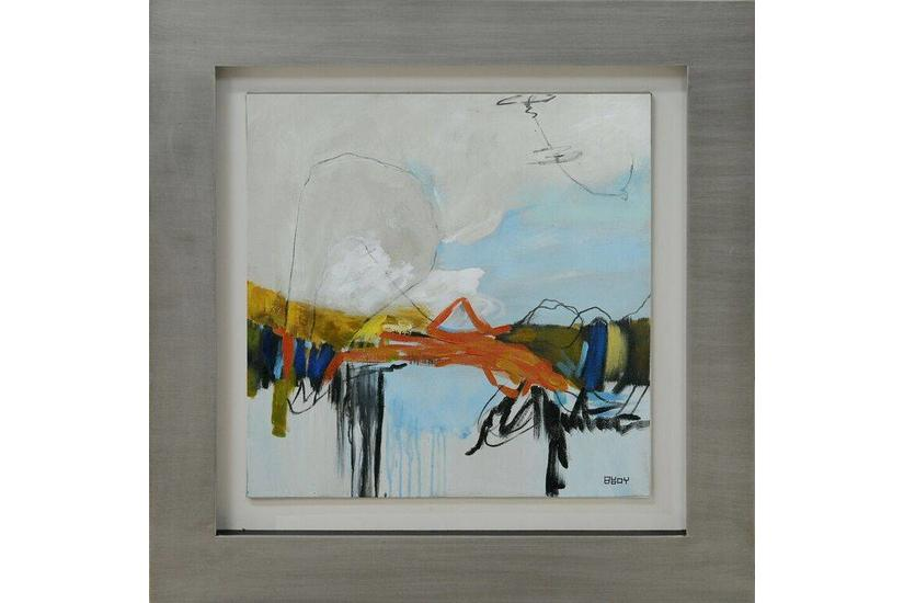 Staccato II Silver Framed Art