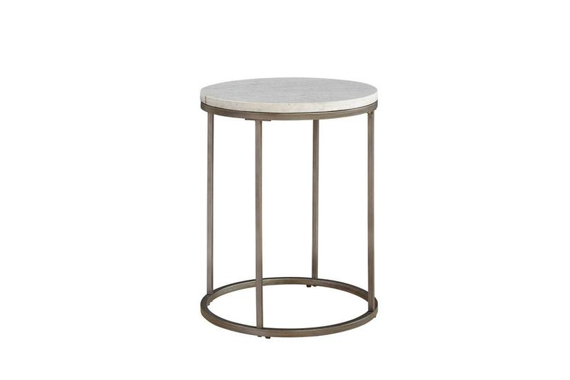 Julien Round Marble End Table
