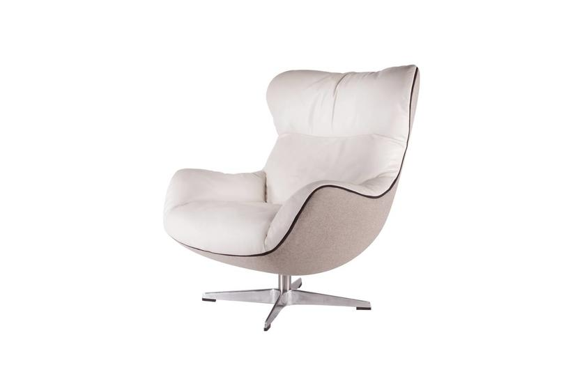 Arie Swivel Chair - Bisque/Taupe