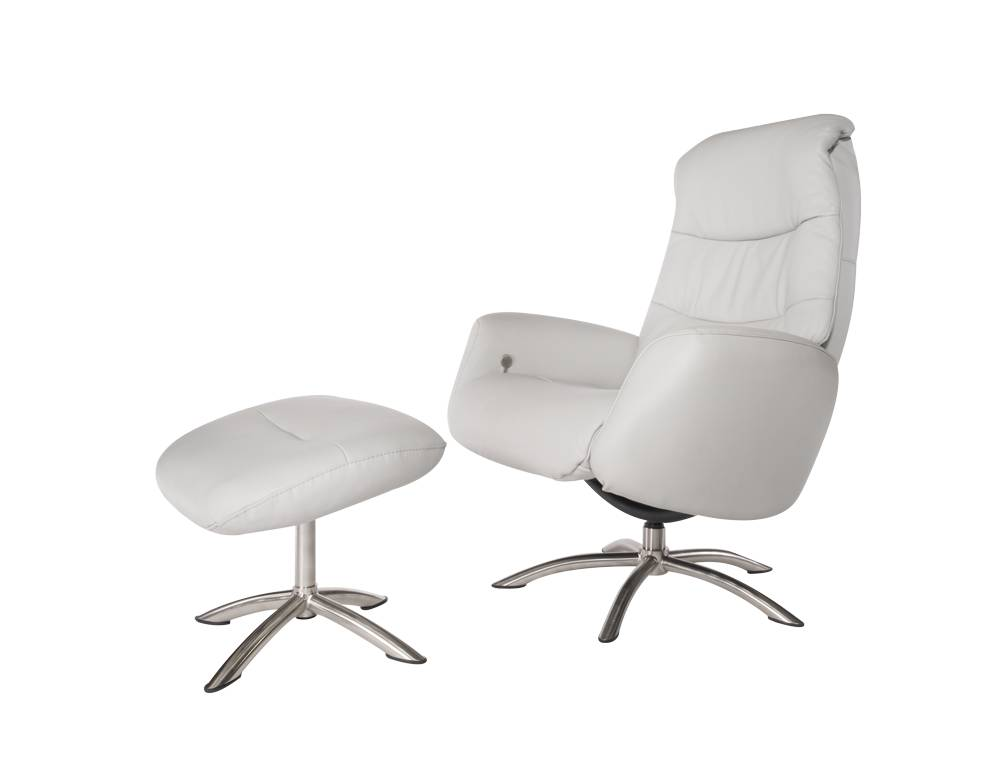 QUE CHAIR & OTTOMAN - STEEL