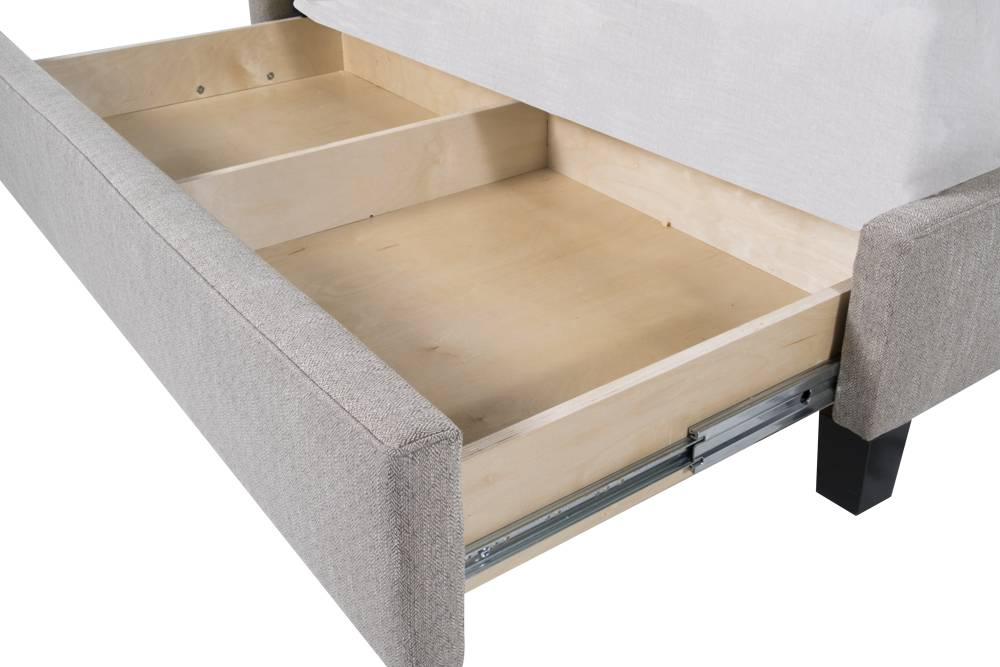 BRYANT KING STORAGE BED - FOG