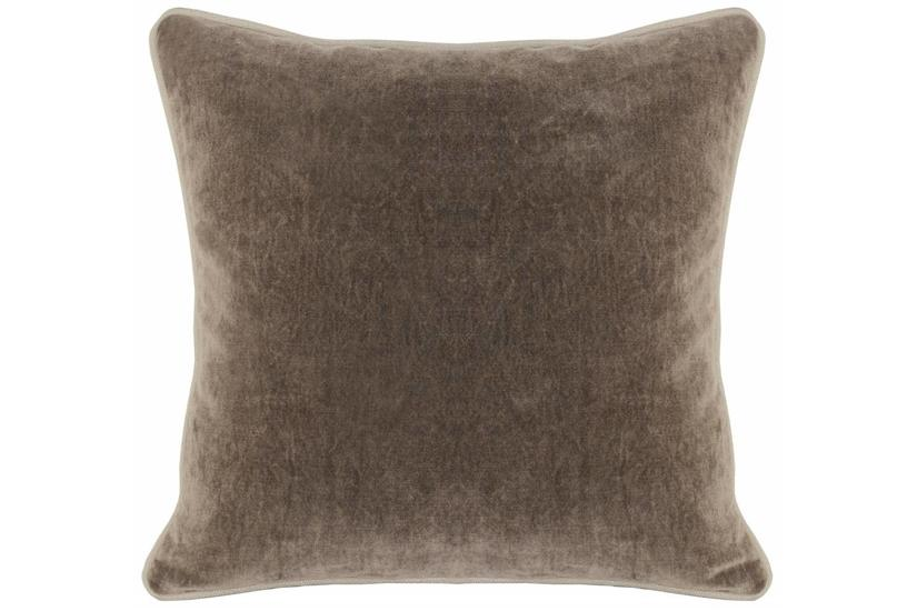 Heirloom Velvet Square Pillow - Desert