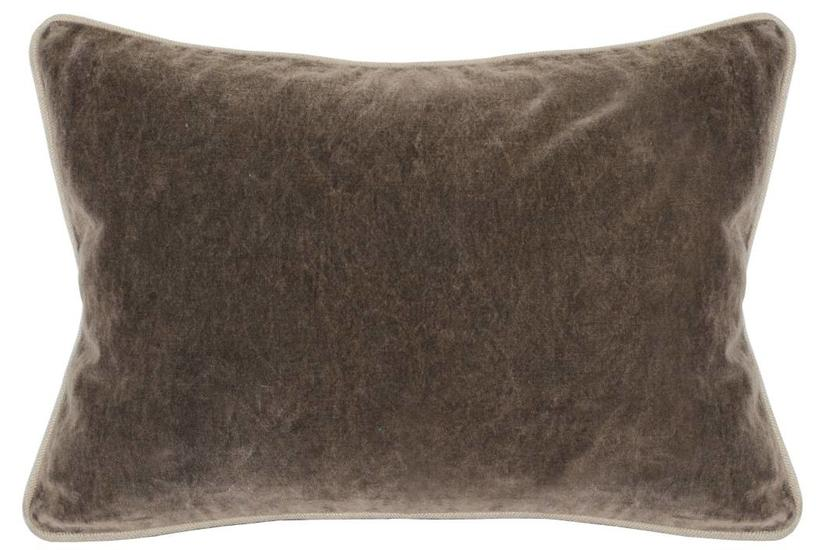 Heirloom Velvet Bolster Pillow - Desert