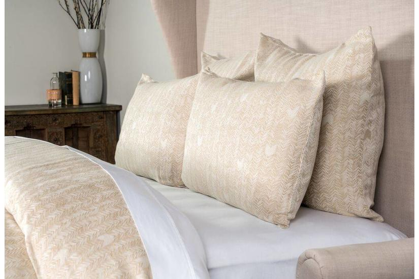 HERRINGBONE NATURAL K DUVET