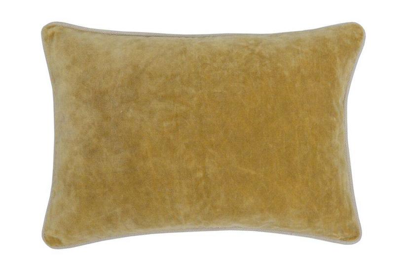 HEIRLOOM VELVET BOLSTER PILLOW - GOLD