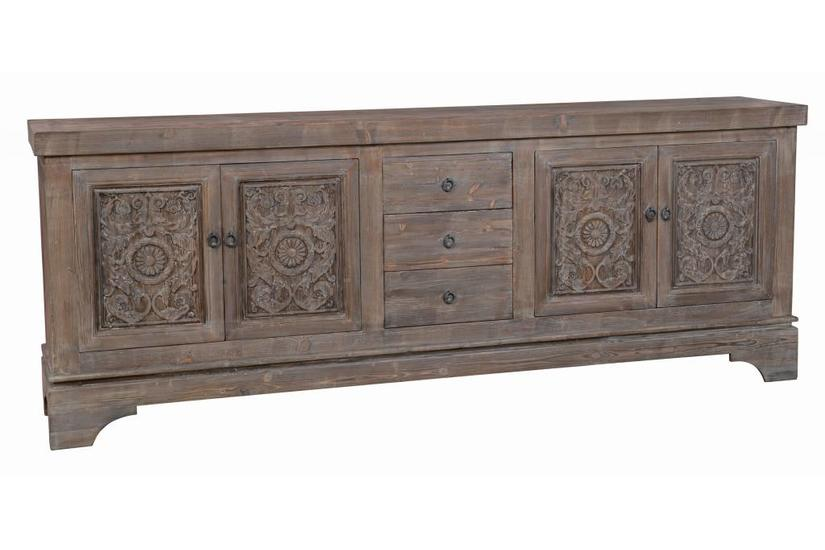 AMITA 3-DRAWER 4-DOOR SIDEBOARD - MOCHA