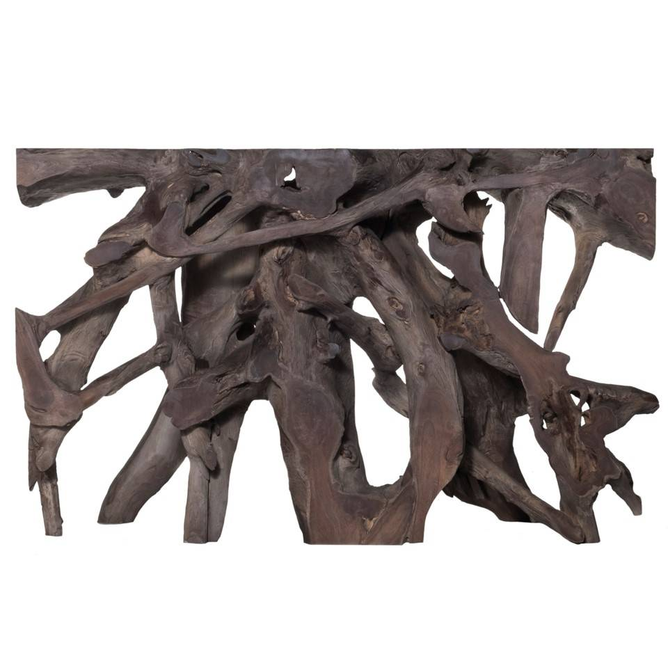 TEAK ROOT SM CONSOLE GREY