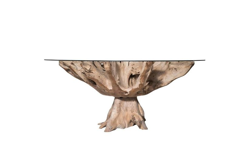 Teak Root Large Dining Table - Natural
