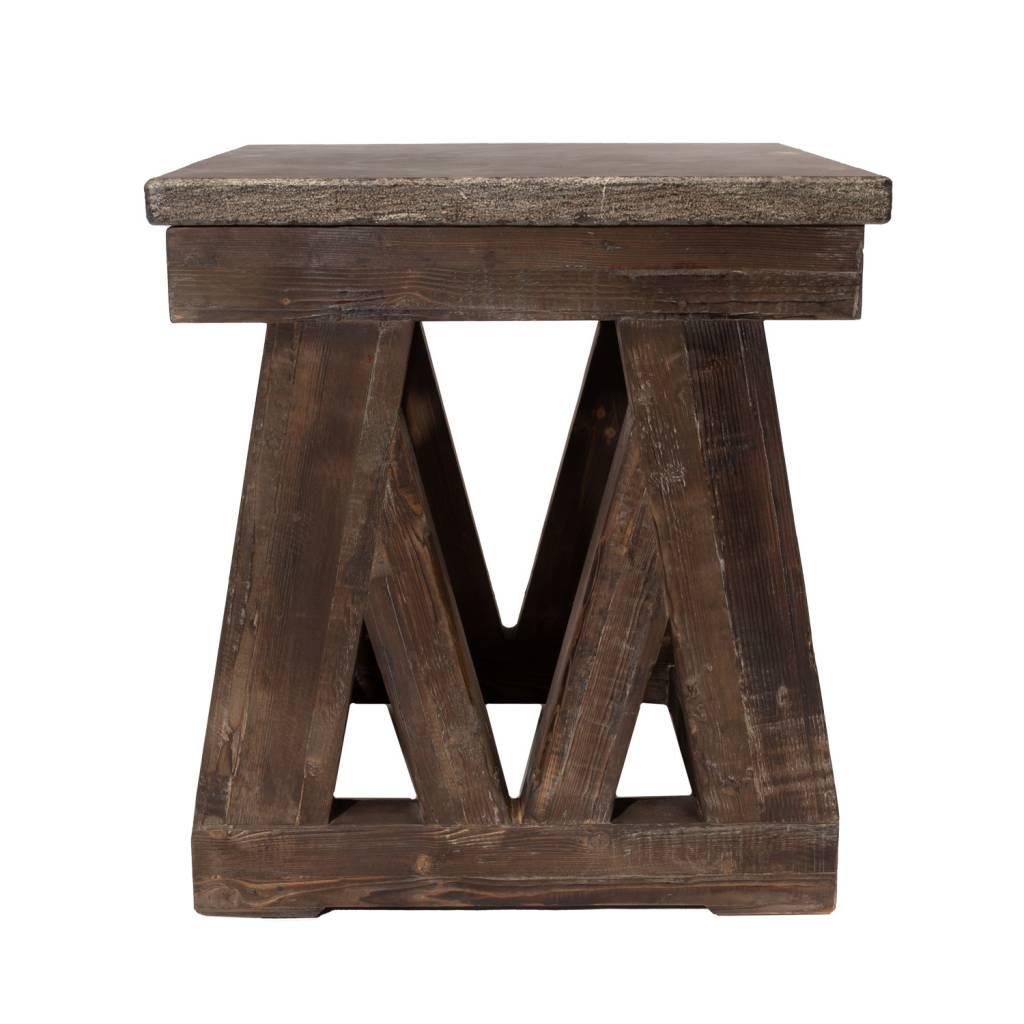 MARBELLA END TABLE - MOCHA