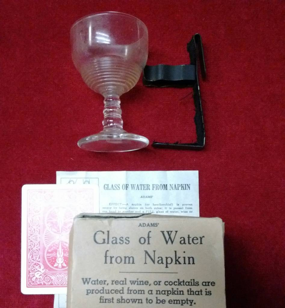 Adams Glass of Water from Napkin