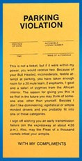 Comic Parking Tickets