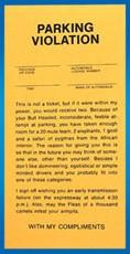 Comic Parking Tickets