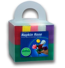 Napkin Rose Cube
