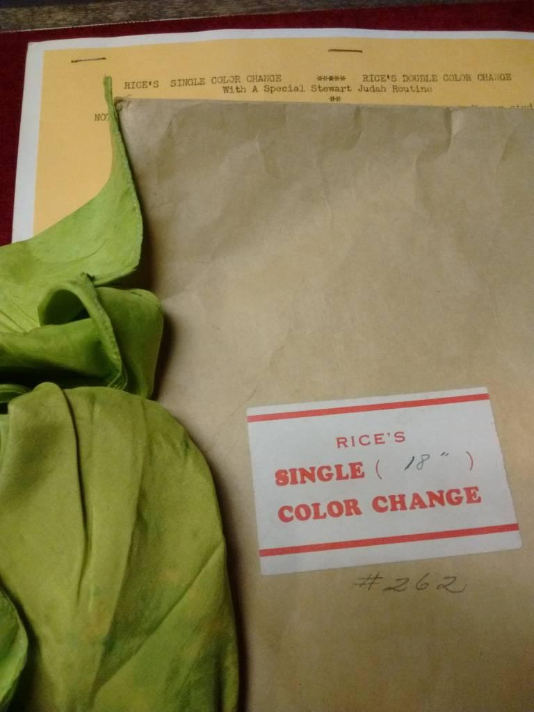 "Rice's Single (18"") Color Change:"