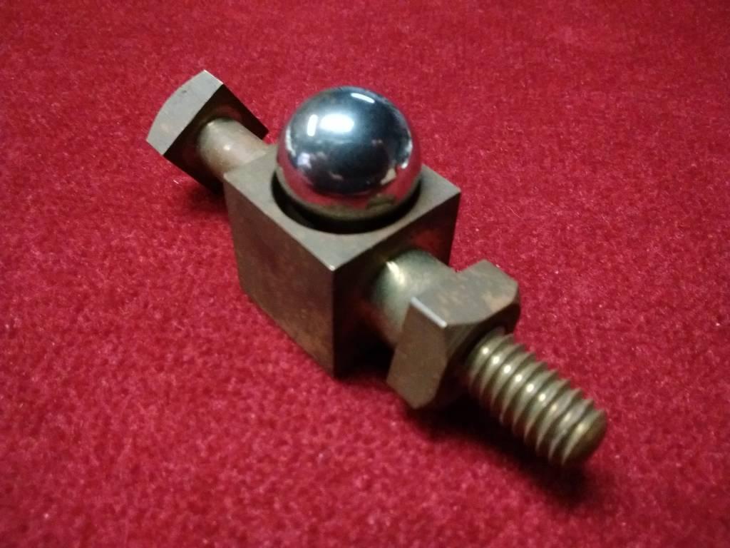 Steel Ball Through Brass Bolt