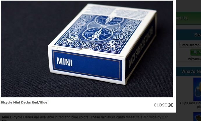 Bicycle Bicycle Mini Deck (Blue)