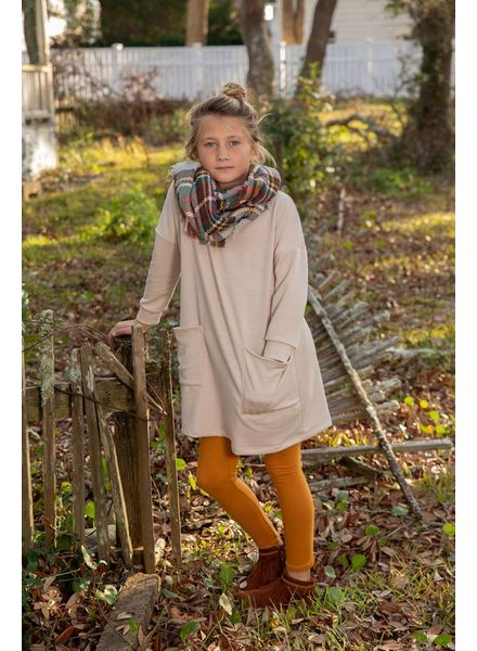Kids 3/4S Button Back Tunic