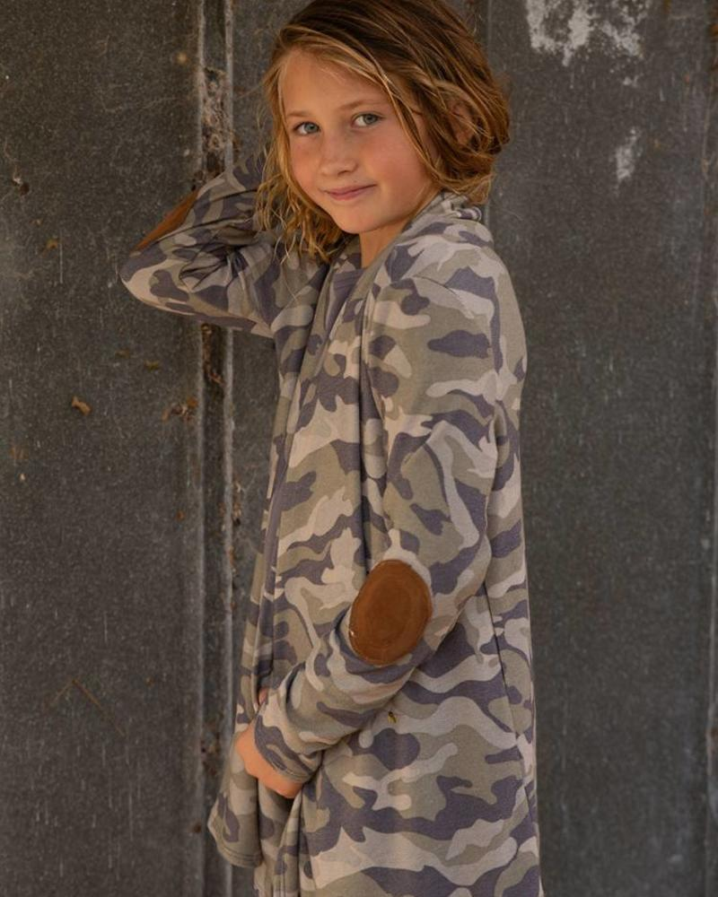 Girls Camo Cardigan