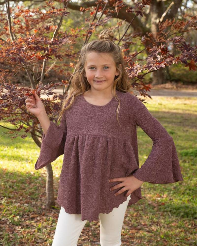 Girls Bell Sleeve Top