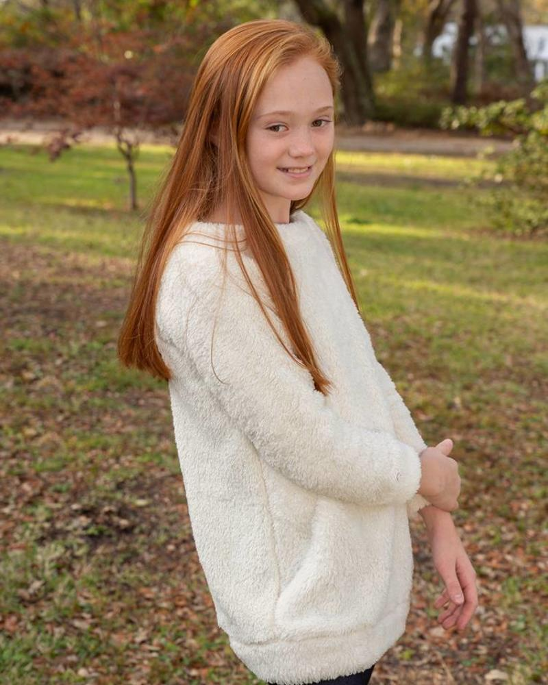 Girls Fuzzy Tunic Pullover