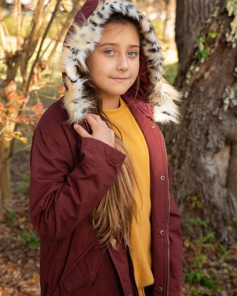 Kids Cargo Jacket w/ Fur