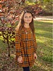 Girls Plaid Embroidered Dress